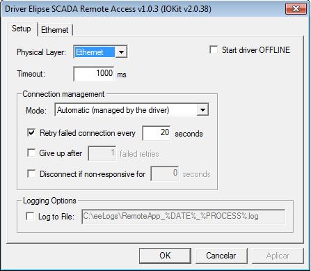 Communication between Elipse E3 and Elipse SCADA via RemoteApp