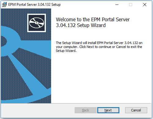 instalação do EPM Portal