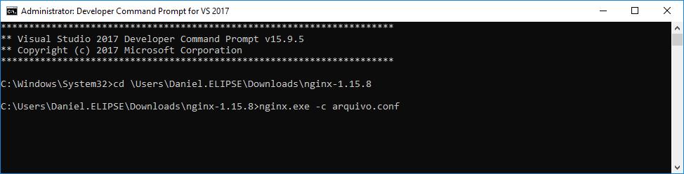 Linha de comando do NGINX