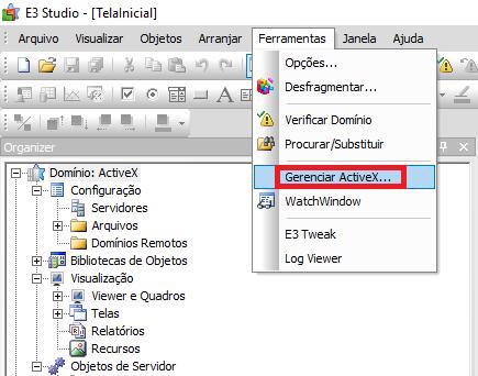 Ferramenta Gerenciar ActiveX no Elipse E3