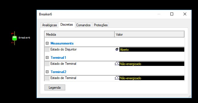 opção 2-Power Explorer; comportamento default da biblioteca powercontrols.lib
