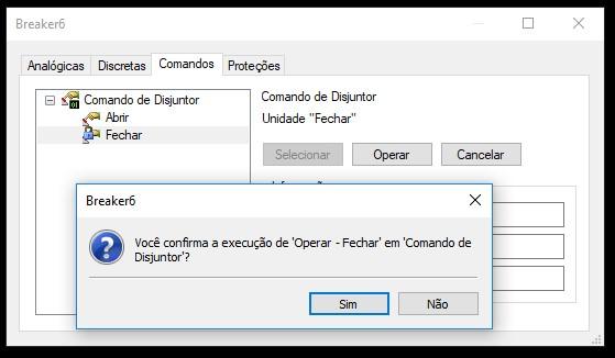 opção 0-cimDoNothing de comandos intertravados no XPowerMenu